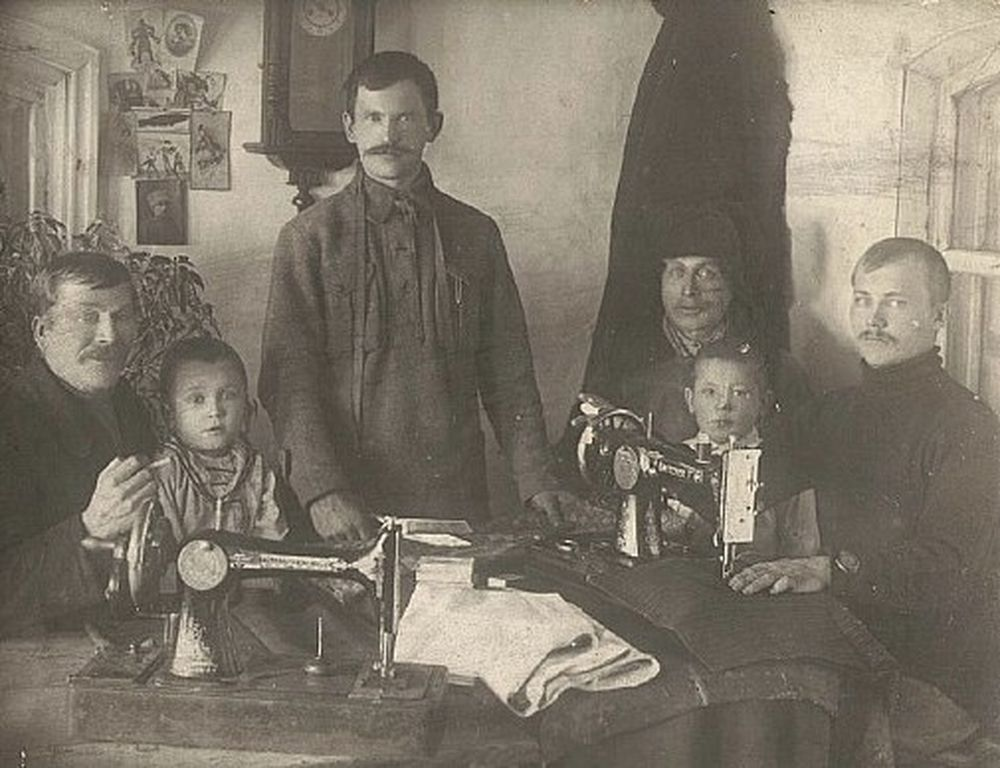 Семья села Яблочное (Малое Молотово), Варгашинский район. 1924 г.