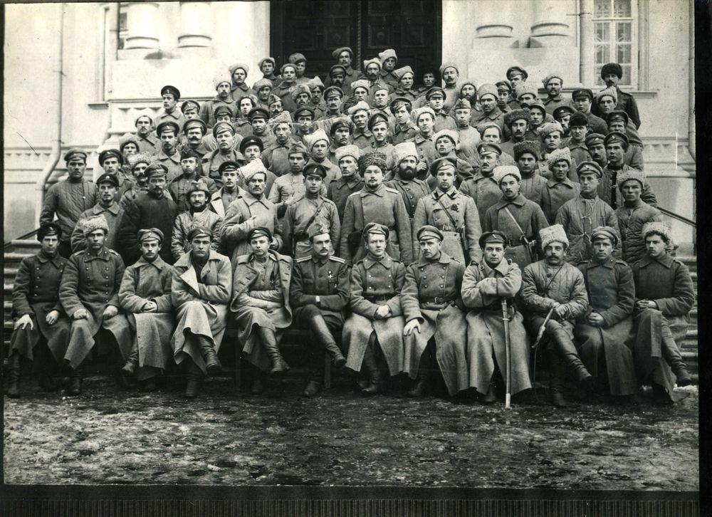 Белогвардейский отряд штабс-капитана Куренкова, принимавший участие в боях с большевиками в Южном Зауралье.