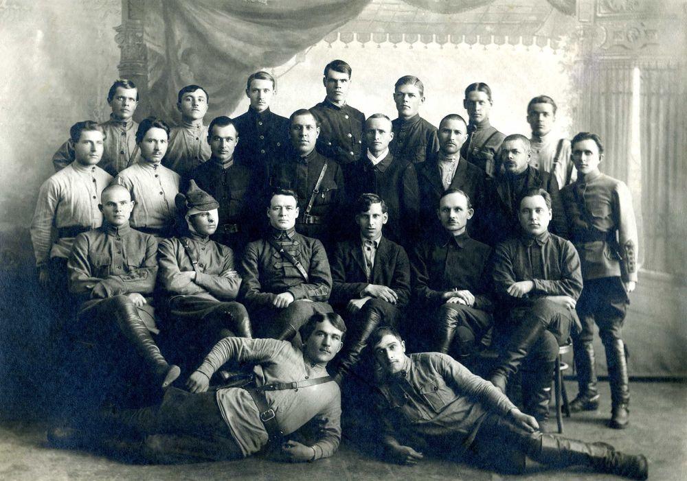 Штаб полка «Красный коммунар», освобождавших Курган в 1919 г.