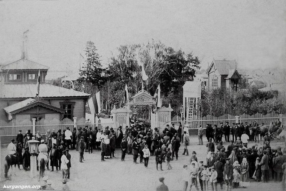 Открытие Промышленной и сельскохозяйственной выставки в 1895 г. Фотография А.И.Кочешева.