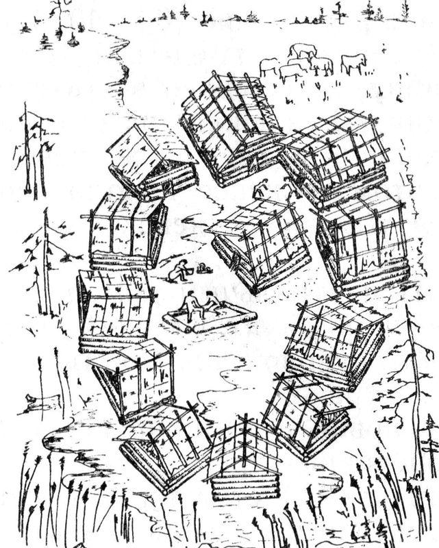Реконструкция поселения Ташково II (по Ковалевой В.Т.)