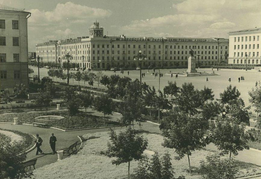 Центральная площадь г. Кургана. 1962 г.