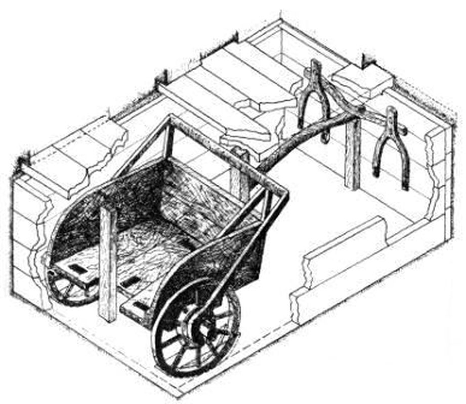 Реконструкция синташтинской колесницы (по В.Ф.Генингу, Г.Б. Здановичу, В.В.Генингу)