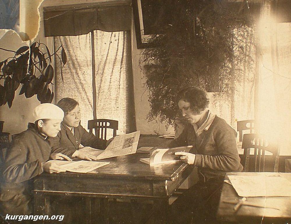 Белозерская районная библиотека. 1936 г.