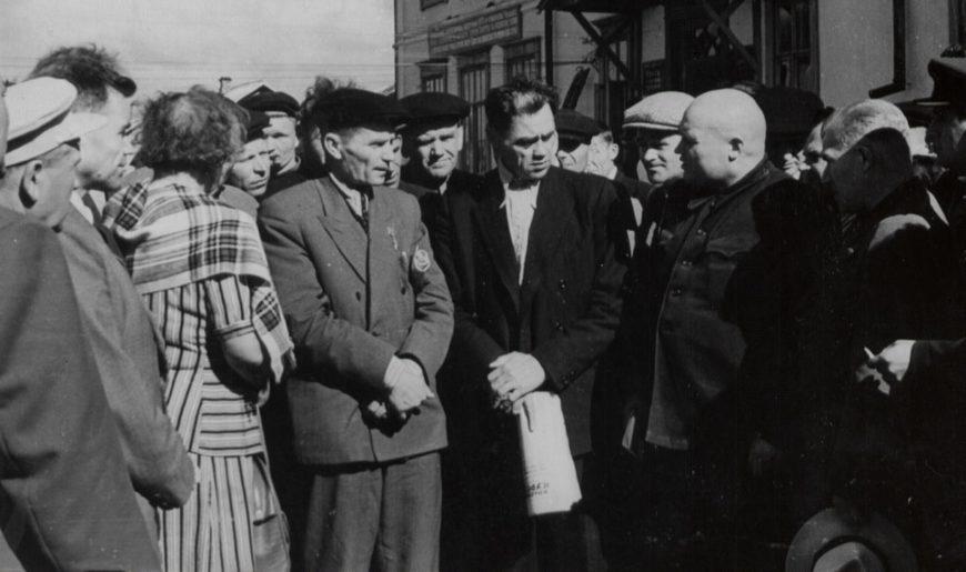 Т.С. Мальцев, Т.Д. Лысенко и Г.М. Ефремов. 1954 г.