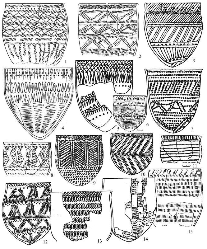 Керамические сосуды Притоболья