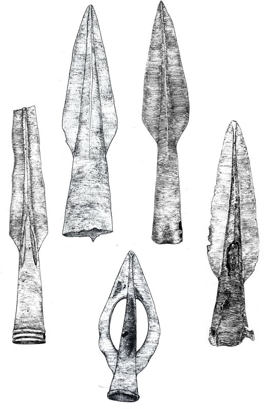 Бронзовые наконечники копий