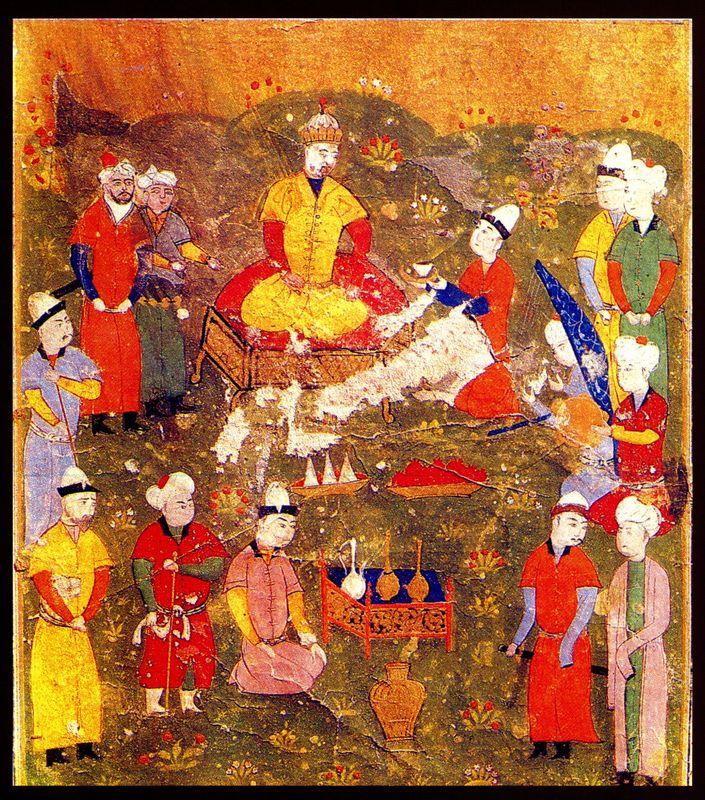 Восшествие Абу-л-Хаир-хана на престол (Масуд Усмани Кухистани «Тарих-и Абулхаир-хани», Мавераннахр, 1541 г.)