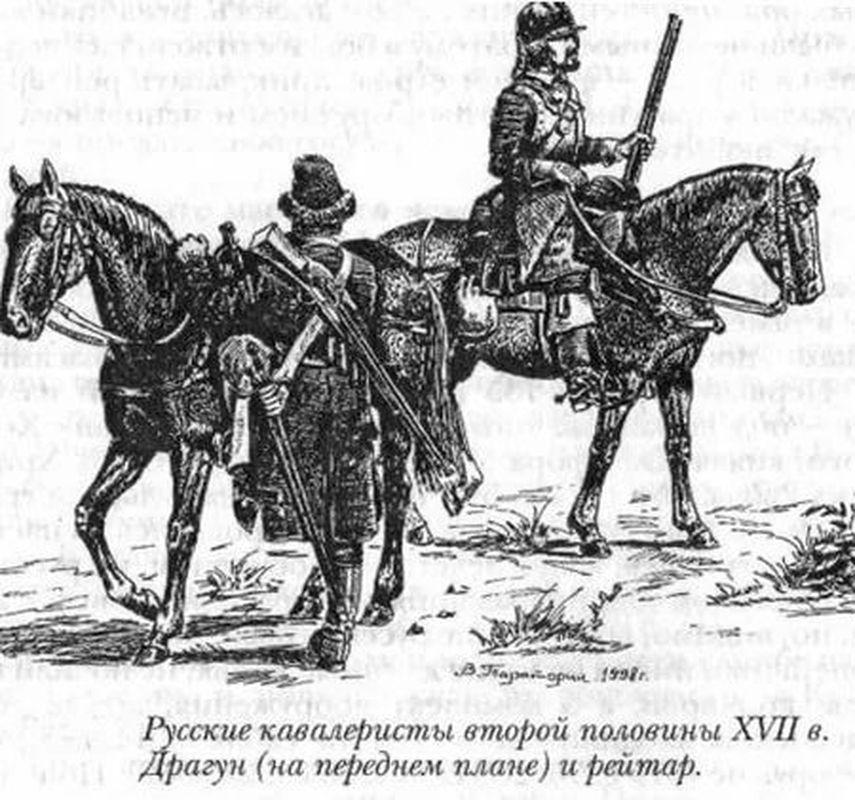 Русские кавалеристы второй половины XVIII века (рис. В.Тараторина)