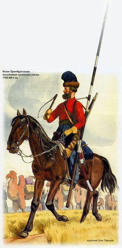 Казак Оренбургского казачьего полка