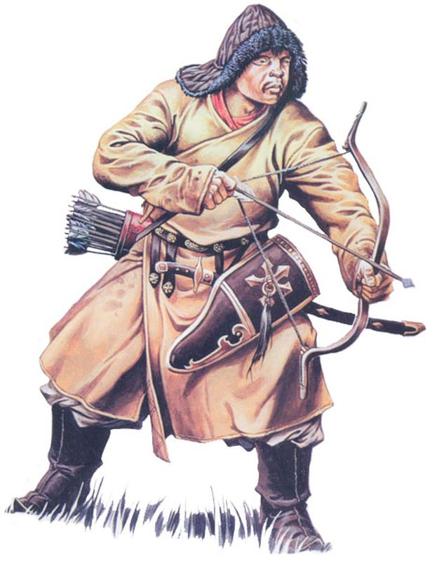 Монгольский легкий лучник (по Т.Макбрайду)