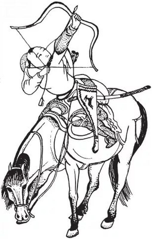 Монгольский лучник XIII века. Китайский рисунков