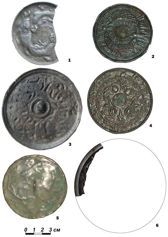 Зеркала монгольского и золотоордынского времени с территории Притоболья